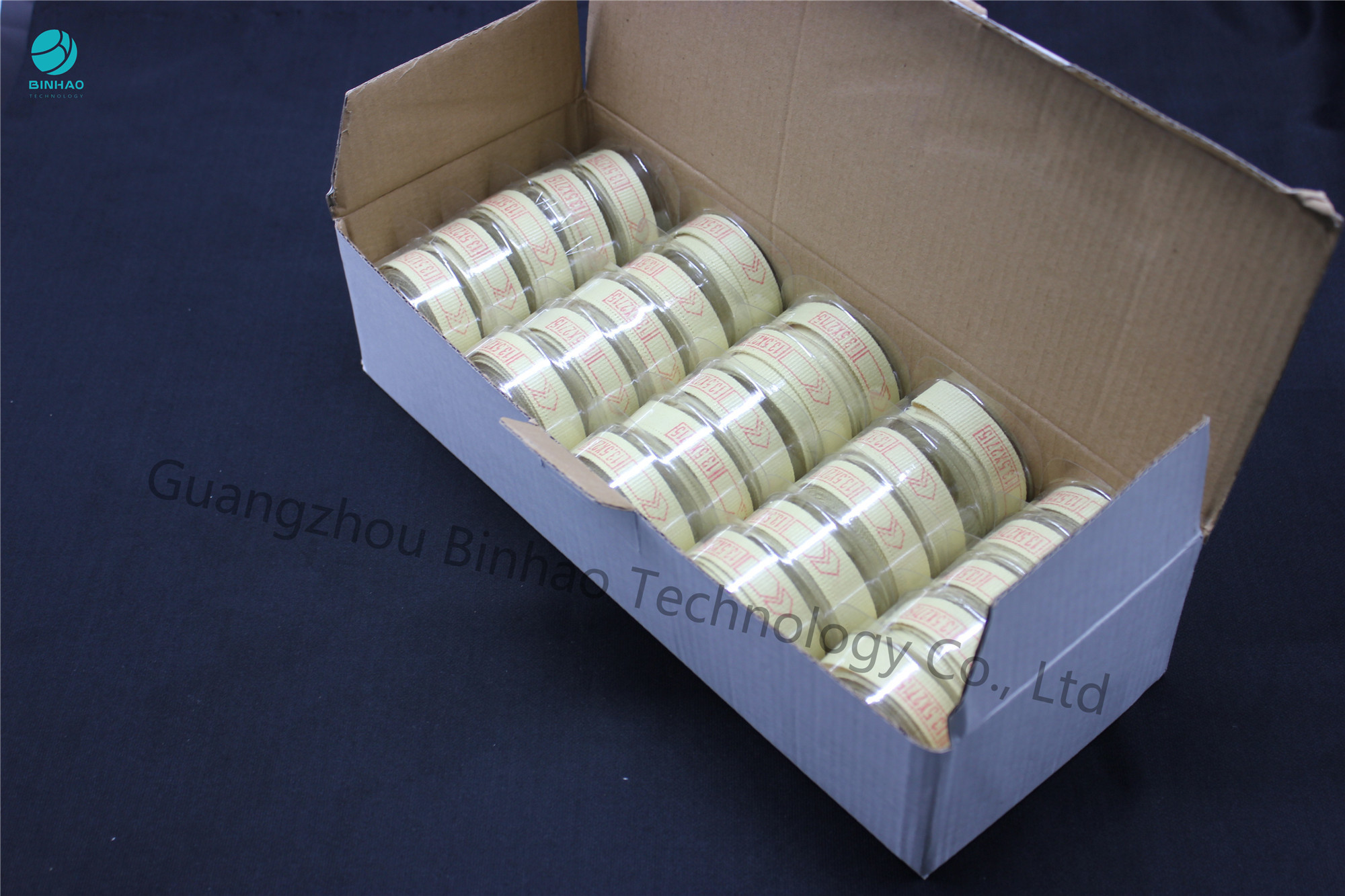 2490mm Heat Resistant Yellow Kevlar Fabric Garniture Tape For MK8D Making Machine