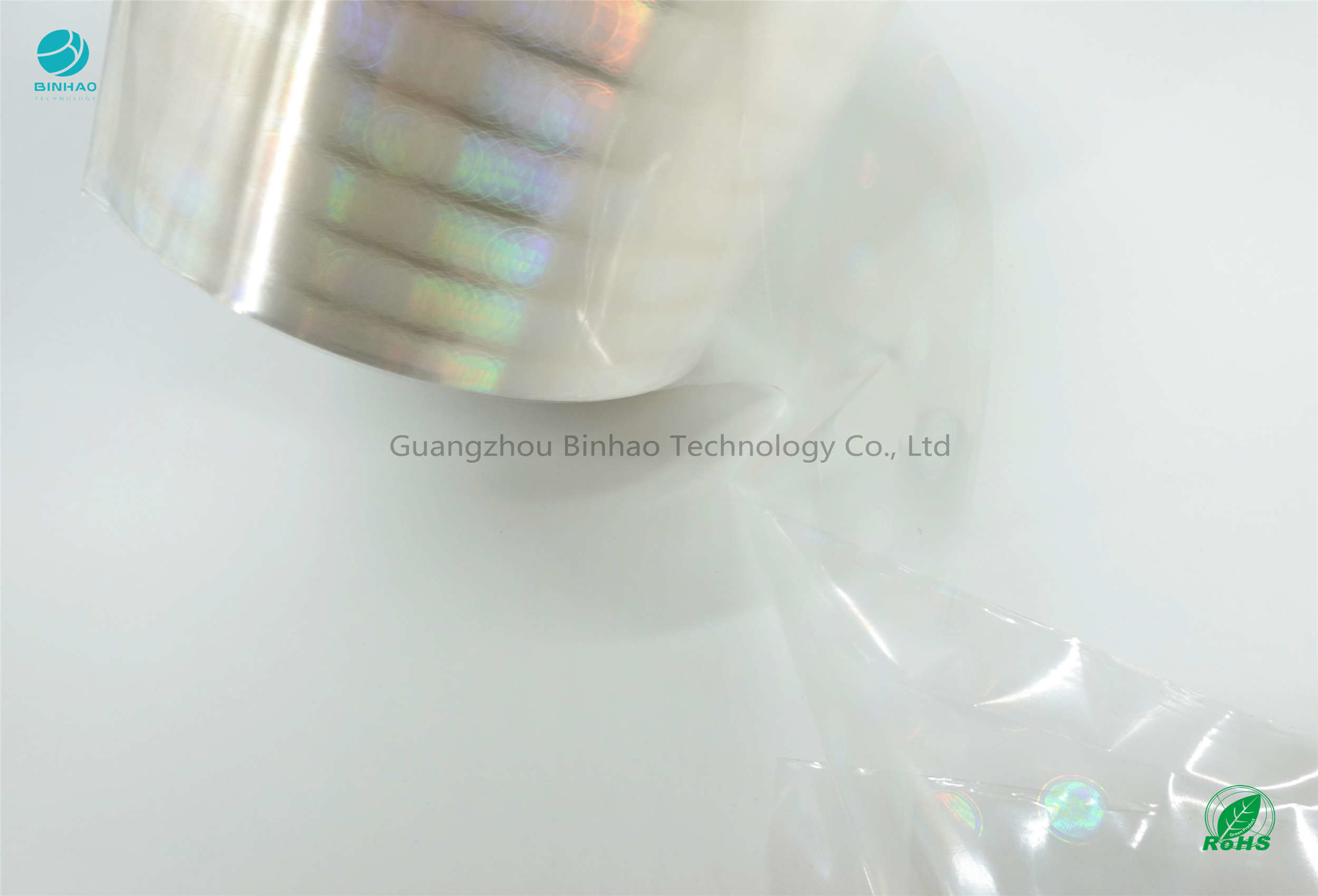Shine Light Glossy Offset Printing Tobacco BOPP Film Roll Holographic ID 76 mm